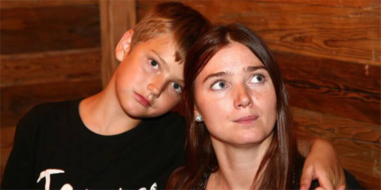 Zabine Kapfinger mit Sohn