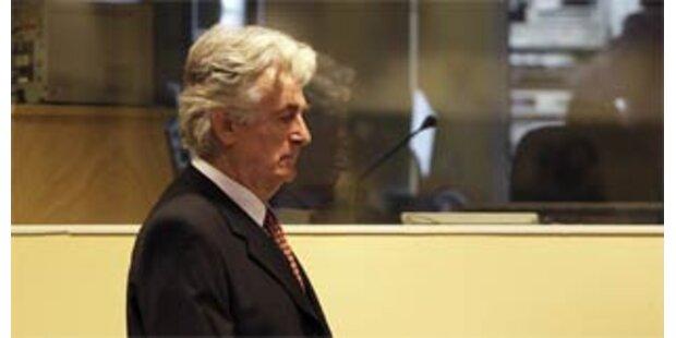 Karadzic droht mit Hungerstreik