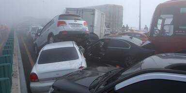 Südkorea: Massen- Crash mit 100 Autos