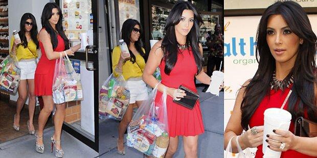 Hier kauft Kim schon fürs Baby ein