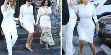 Die Kardashian-Schwestern im Weißwurstlook