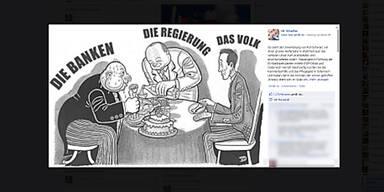 Strache belässt Cartoon auf Facebook