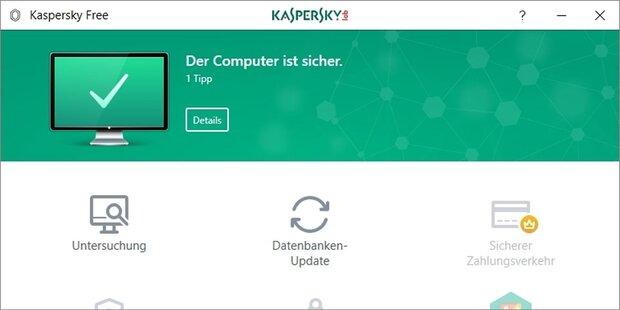 Antiviren-Programm von Kaspersky jetzt gratis