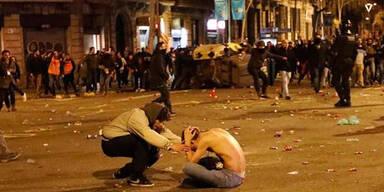 100 Verletzte bei Aufruhr in Katalonien