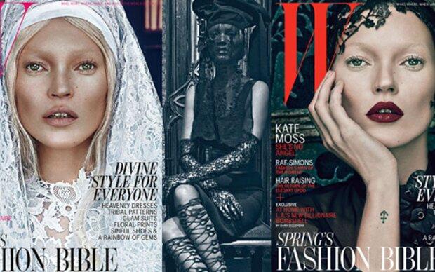 Dämonische Kate Moss für WMagazine