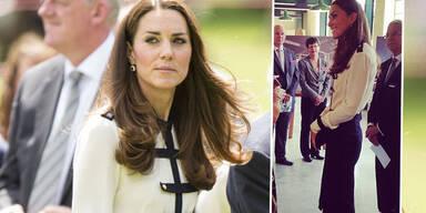 Herzogin Kate schockiert mit extrem schlanker Figur