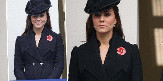 Herzogin Kate versteckt Babykugel