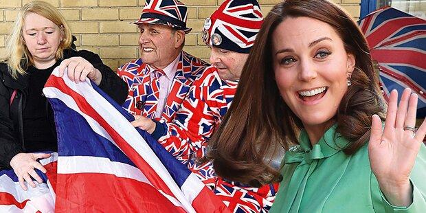 Kate: Baby Nummer 3 für Millionen