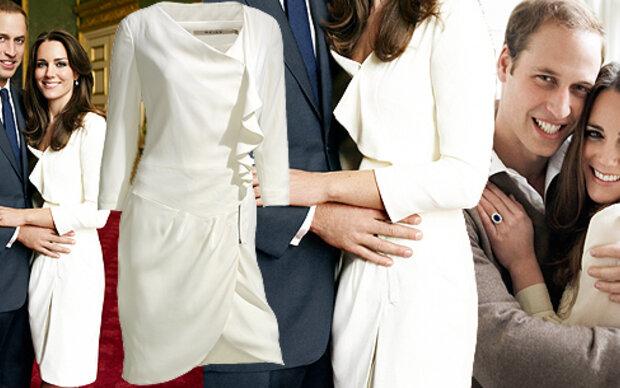 Hier gibt's Kates Verlobungskleid
