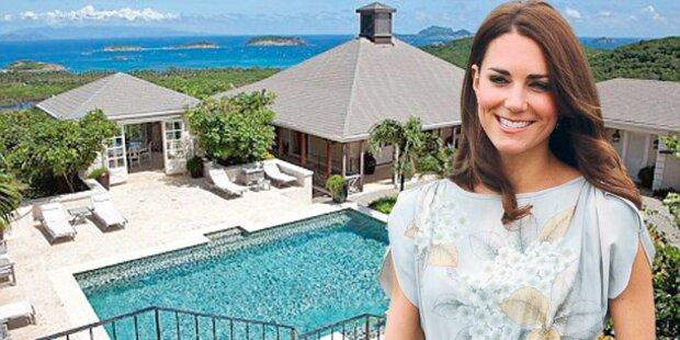 Herzogin Kate floh in Karibik-Paradies