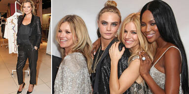 Topshop-Event: Stars kamen im Kate-Moss-Look