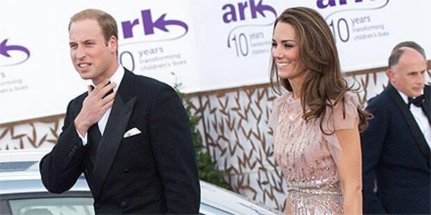 Kate: Swarovski-Kleid bei 1. Auftritt