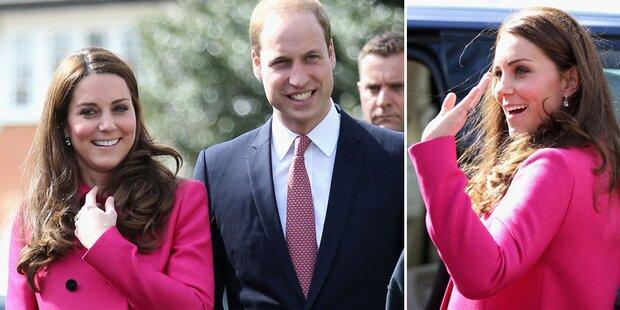 Baby-News: Herzogin Kate bekommt...