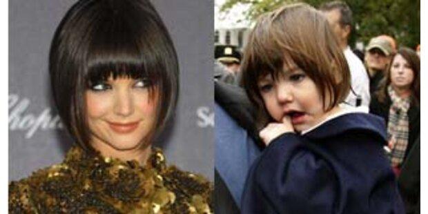 Katie Holmes und Tochter Suri mit gleicher Frisur