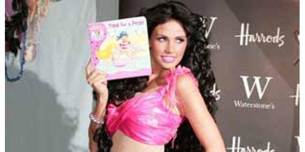 Sexy Meerjungfrau Katie Price präsentiert Buch