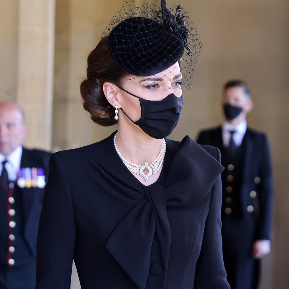 Kate bim Begräbnis von Prinz Philip