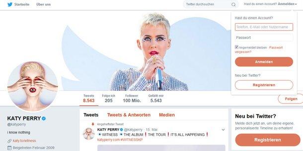Katy Perry Stellte Twitter-Rekord Auf