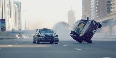 Driftgott Ken Block macht Dubai unsicher