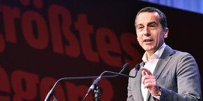 Bundeskanzler Kern hält Rede bei Ministerrat in Wien