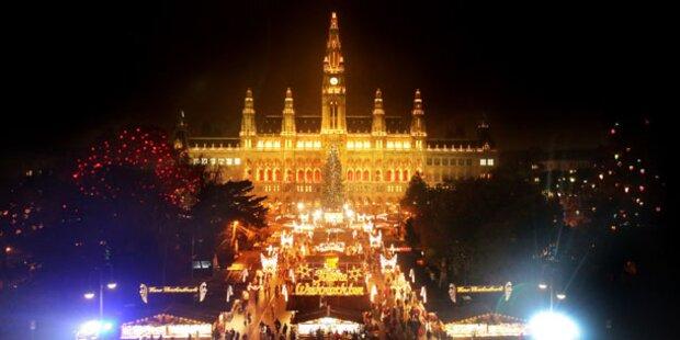 Wien bringt sich in Weihnachtsstimmung