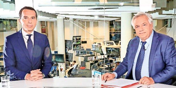 Der Kanzler crasht oe24.TV-Interview