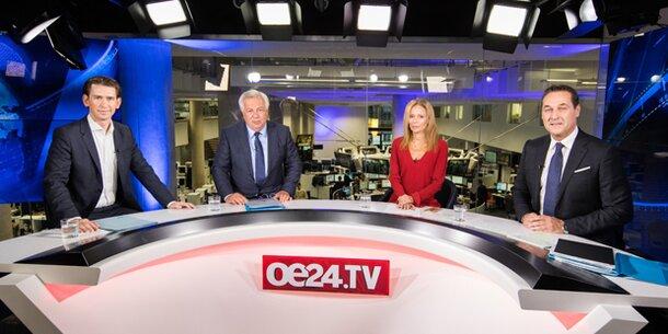 Wahl-Duell Kurz – Strache sorgt für Zuseher-Rekord auf oe24.TV