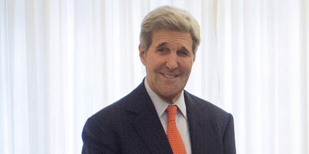 Kerry in Wien angekommen