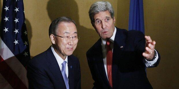 Gaza-Krieg: Ban und Kerry vermitteln
