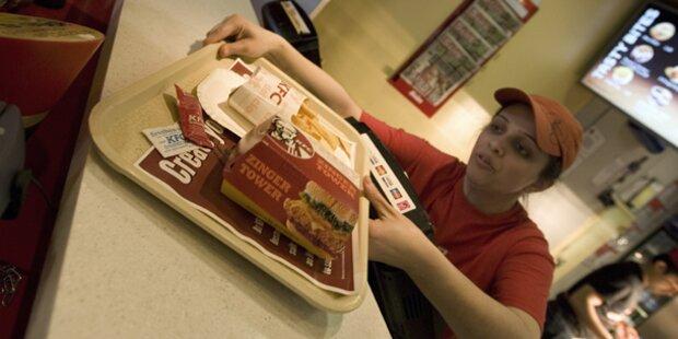 KFC servierte panierten Putzfetzen