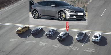 Kia EV6 hängt Porsche, Lambo und Ferrari ab
