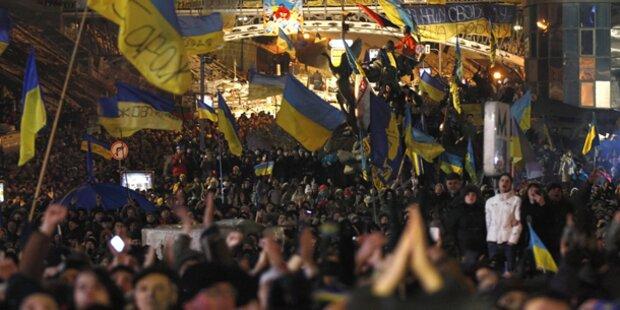 Kiew: Weitere Großkundgebungen