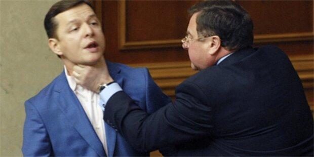 Würge-Angriff im Parlament von Kiew