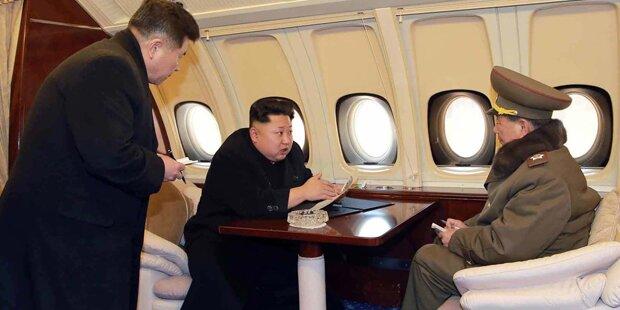 Kim Jong-Un protzt mit Mega-Jet