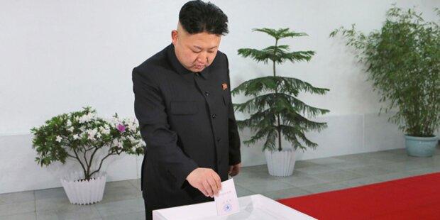 Nordkorea: 100% für Kim Jong-un
