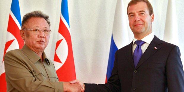 Kim Jong-il trifft Medwedew