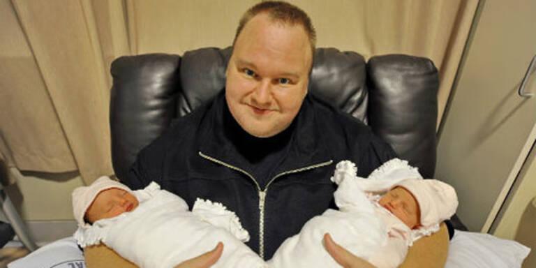 Kim Dotcoms Zwillinge sind da