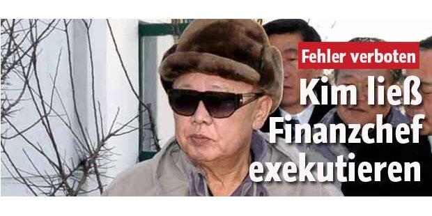 Kim Jong-Il lässt Finanzchef erschießen