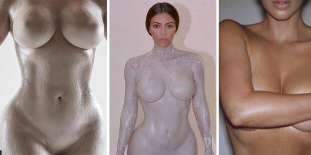 Kim Kardashian zeigt ihre nackte Scham