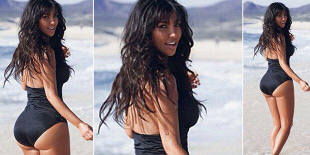 Kim Kardashian zeigt ihre Kurven
