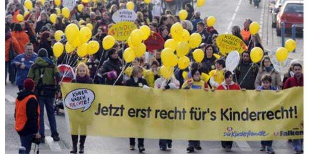 Kindergärtnerinnen legten Wien lahm