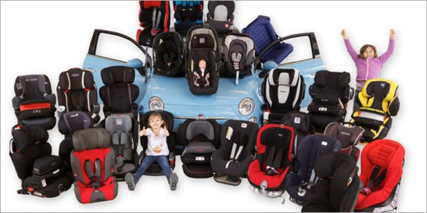 22 Kindersitze im großen Sicherheits-Test