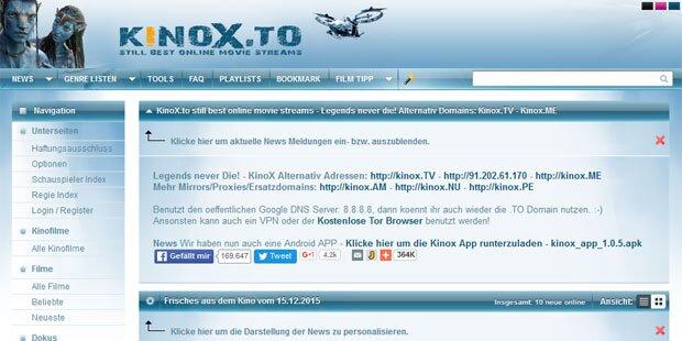 Kinox.to: Lange Haft für Mitbetreiber