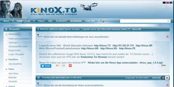 Click Kinox.To