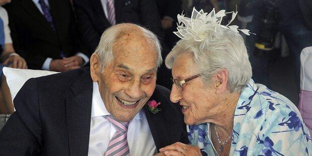 103-Jähriger heiratet 91-Jährige