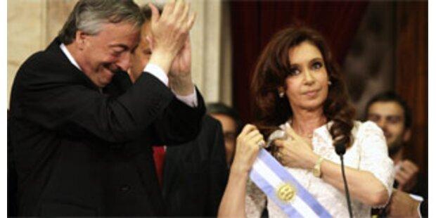 Cristina Kirchner als Präsidentin vereidigt