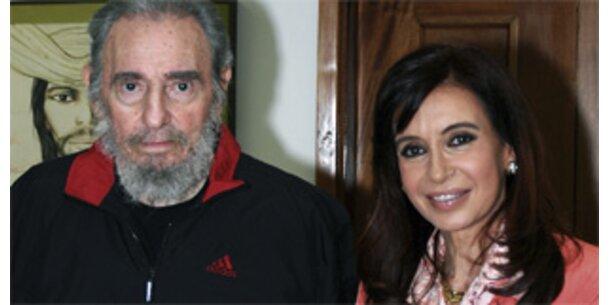 Fidel Castro empfing Argentiniens Präsidentin