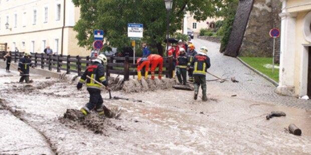 Kitzbühel versank im Hochwasser