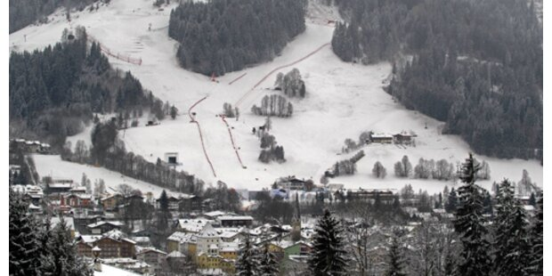 Die Schnee-Situation in Kitzbühel