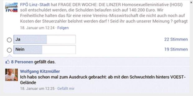 Facebook-Skandal um FPÖ