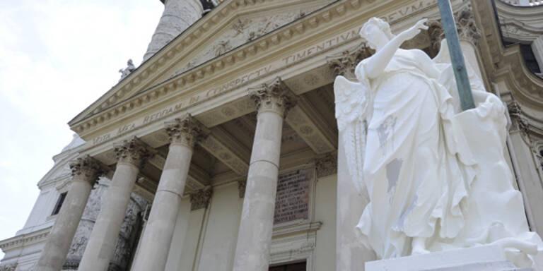 Erneut Vandalen-Attacke auf Karlskirche
